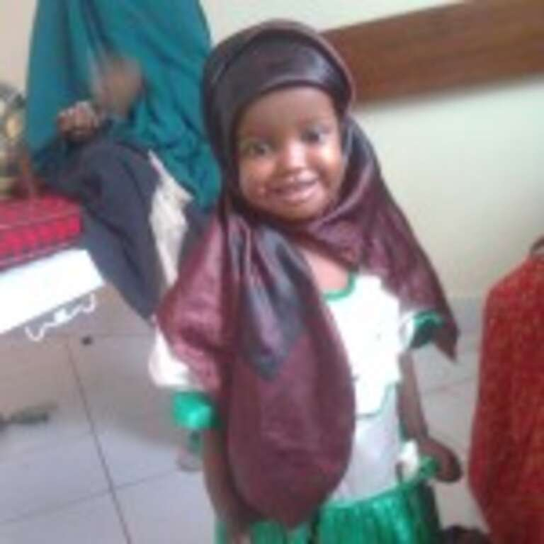 Samira is ready to go home after treatment at Save the Children's Stabilisation Centre.