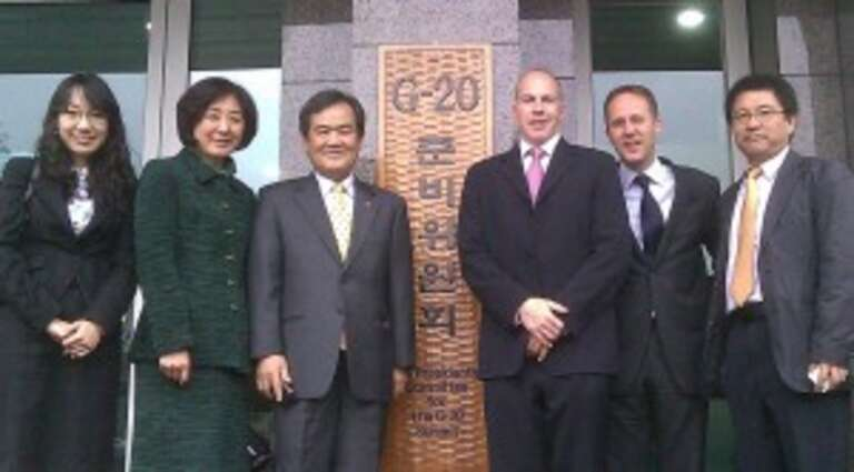 Adrian, Nobho and team at the home of the G20 in Seoul