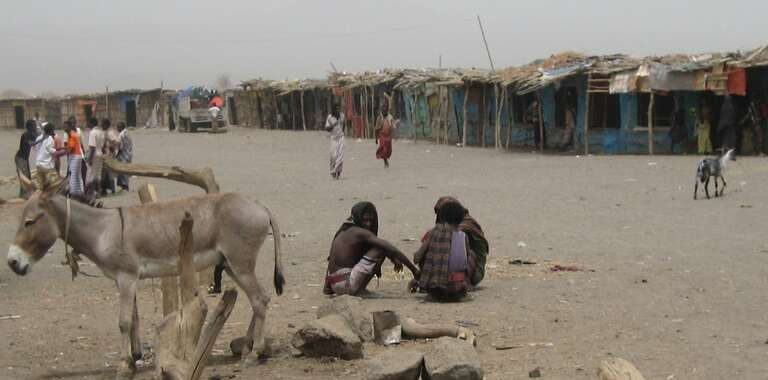 Teru - one of the most remote desert towns in Afar