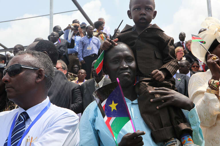 Guests at the ceremony marking the Declaration of the Independence of the Republic of South Sudan. Juba, South Sudan, on Independence Day. July 9 2011.
