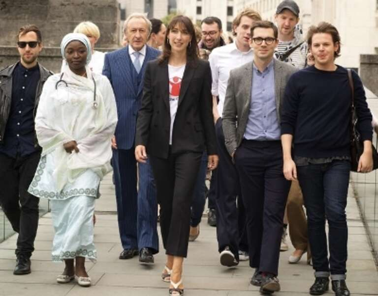 Samanatha Cameron leading the style-savvy stars to Somerset House.