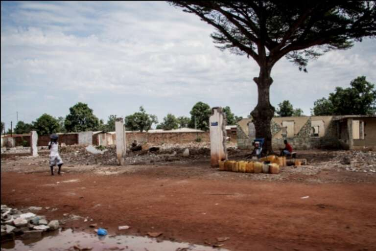 Muslim homes destroyed in Bangui