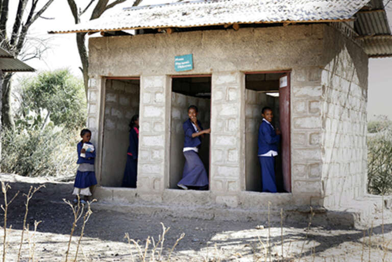 Separate toilets at Koka Negewo School in Ethiopia give girls privacy and dignity