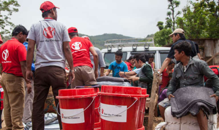 Save the Children's teams deliver much needed aid to outlying