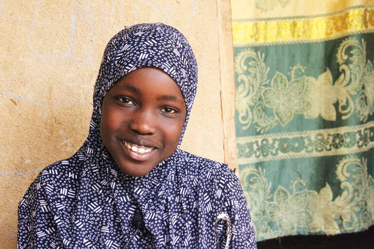 Aminata, a young refugee from Mali