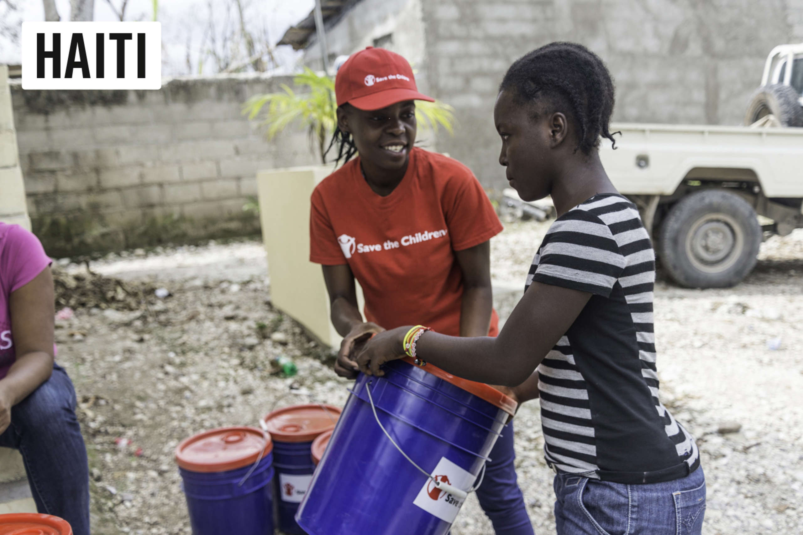 Community Mobilization Officer, Sulfise Jean, is part of a team of emergency responders who provided health and hygiene supplies in the aftermath of the devastating hurricane.