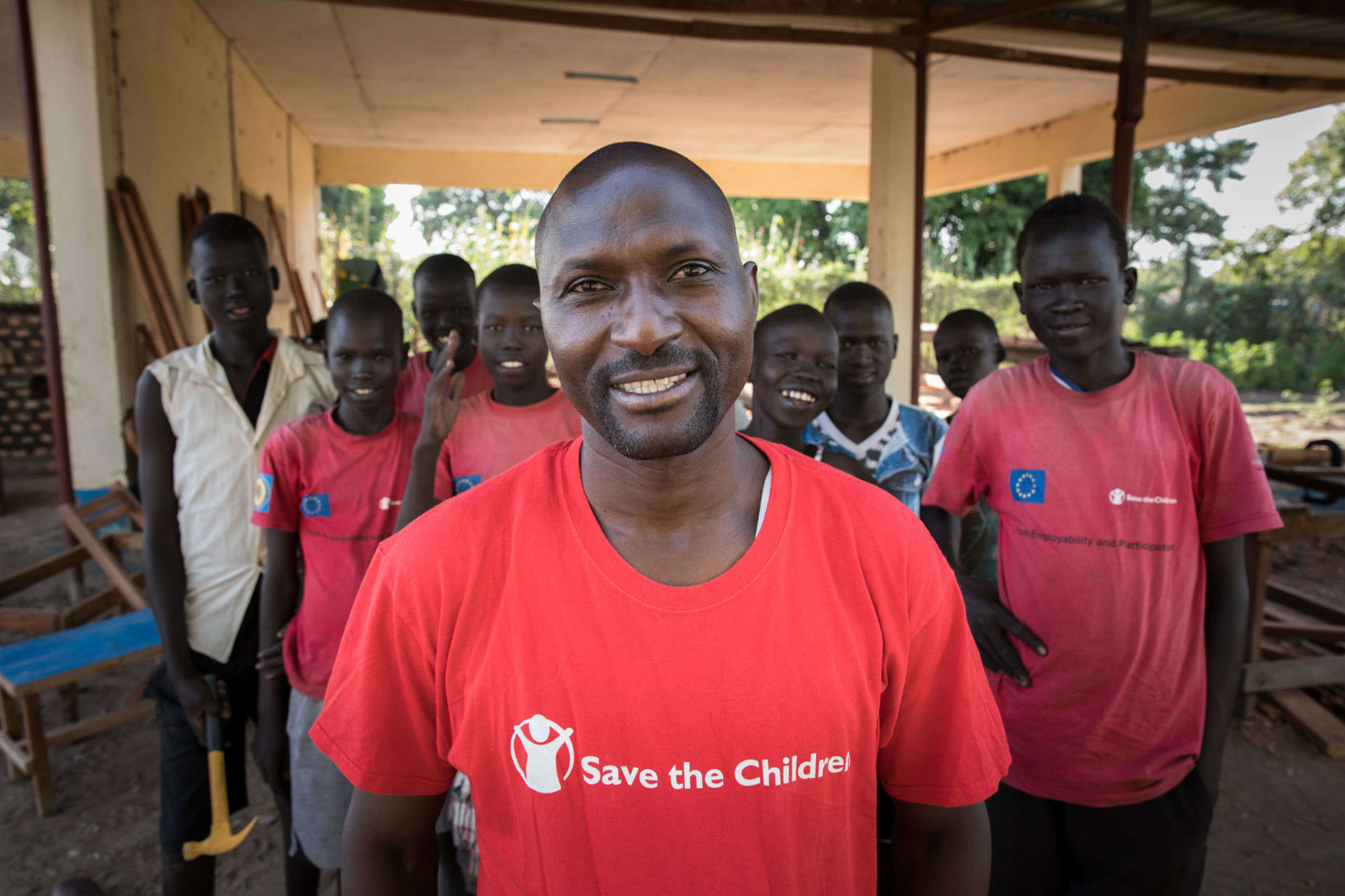 michael, a save the children project manager in South Sudan