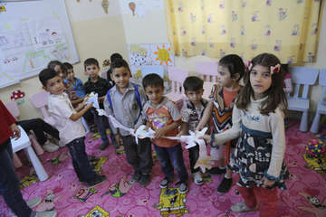 Children at a Save the Children education centre in Amman, Jordan