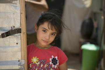 A girl at the Zaatari refugee camp, Jordan.