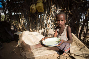 Robert is four years old and lives in Turkana county, one of the poorest parts of north-west Kenya