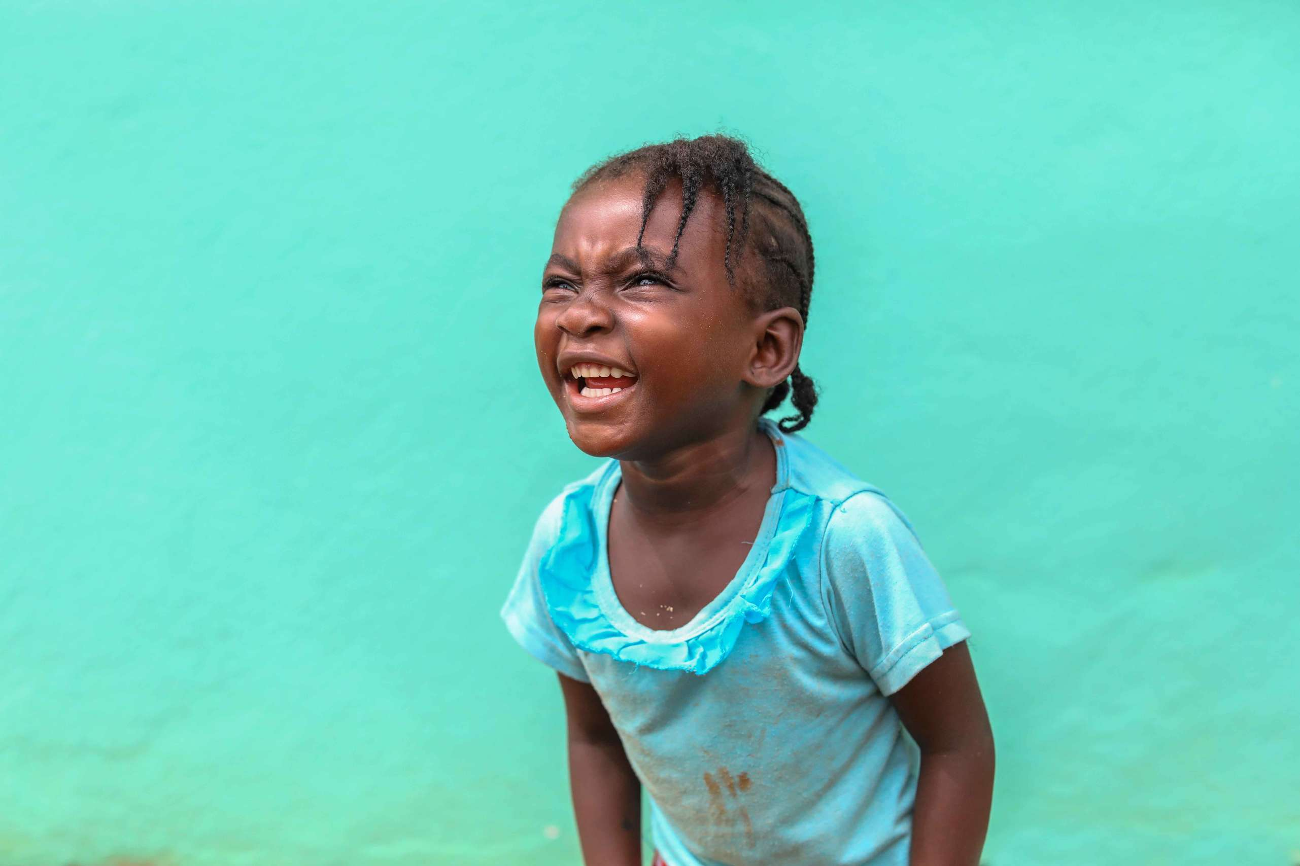 A little Alice, smiling, Liberia