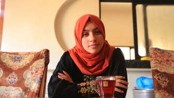Samar, 15, took part in the Gaza protests and was shocked to see children getting injured.