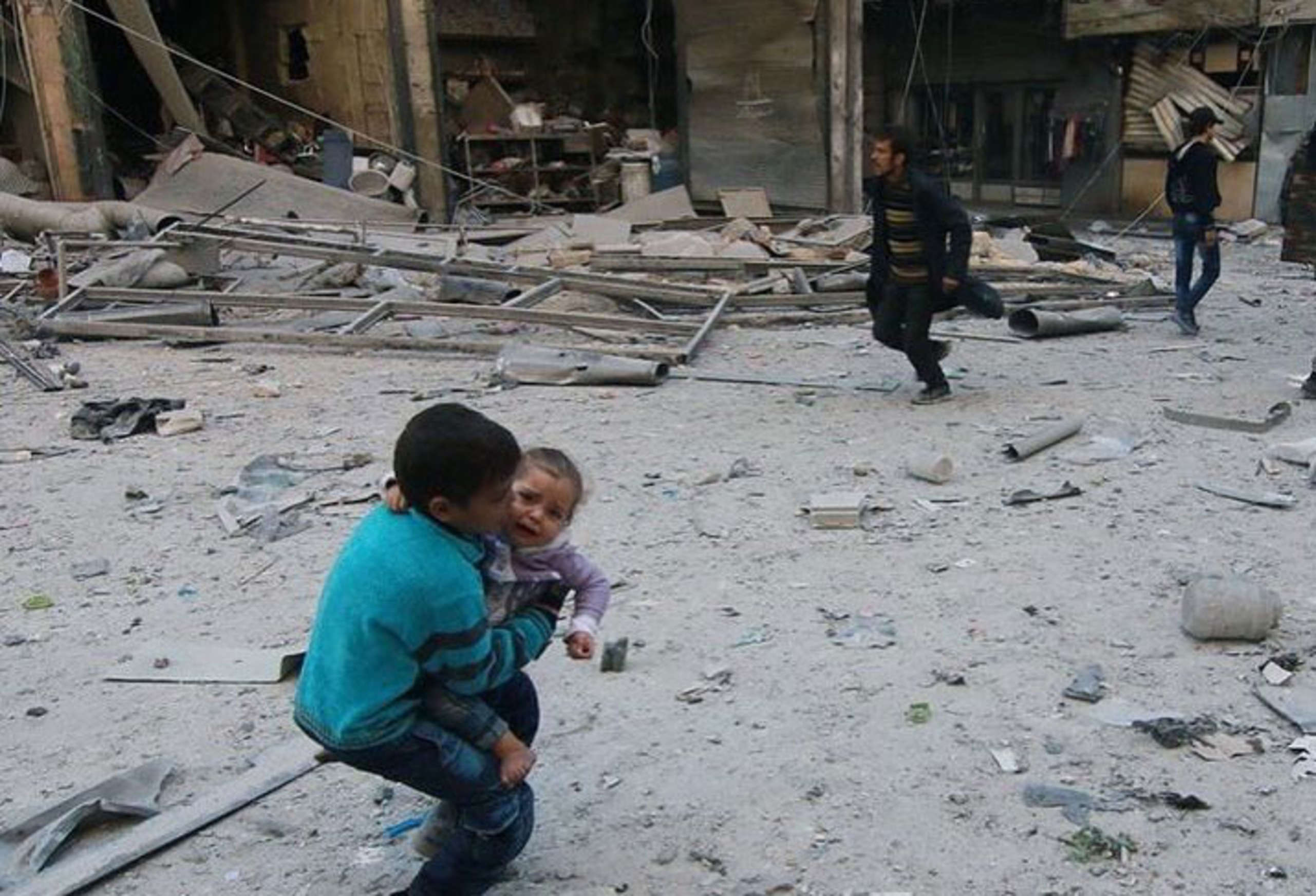 Aleppo, where we work with partners to protect children every day.