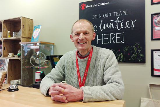 Meet David who volunteers in our shops in Edinburgh.