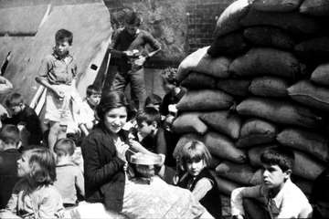 Our experience working with children in conflict started in the UK during the World War II.