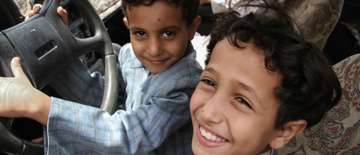 Qasim and Talib's family was displaced from Sa'ada in North Yemen, where there father was a businessman, leaving behind their big house and farm. They lost everything in airstrikes. Now Save the Children supports them with monthly cash transfers.
